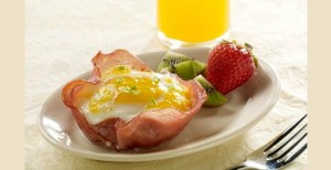 Ham and Eggs Basket